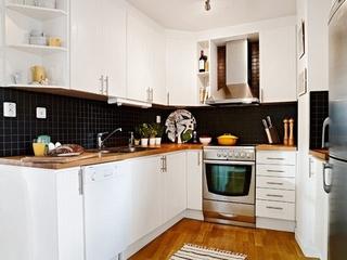 白色北欧一居室案例欣赏厨房橱柜