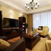 现代美式温馨住宅欣赏客厅