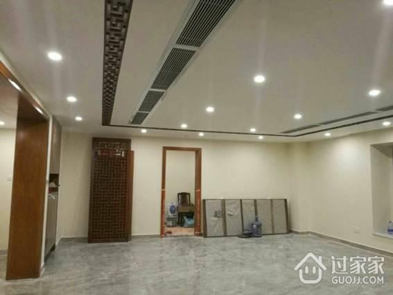 客厅用石膏板吊顶,中央空调装备