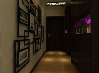 豪华浓郁新中式古典家居玄关照片墙欣赏