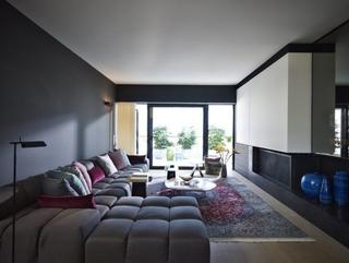 灰色空间现代住宅欣赏客厅背景墙