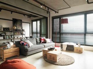 115平现代个性公寓欣赏客厅陈设