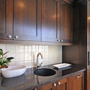 现代简约效果图厨房水槽