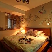 89平田园风格三居欣赏卧室设计