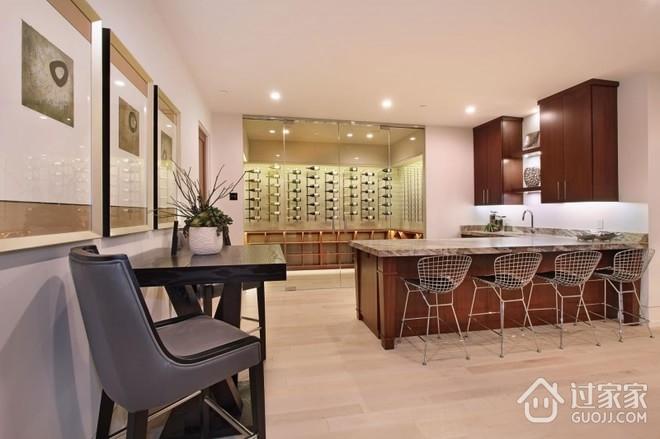 融入自然现代别墅欣赏厨房局部