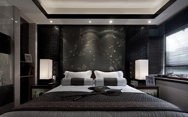 现代东南亚卧室床品