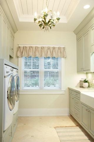 白色美式风四居室欣赏洗衣机