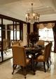 高端大气 美式风格餐厅吊顶效果图