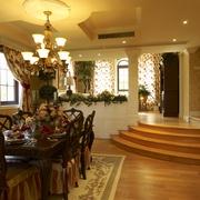 欧式风格样板房餐厅地台