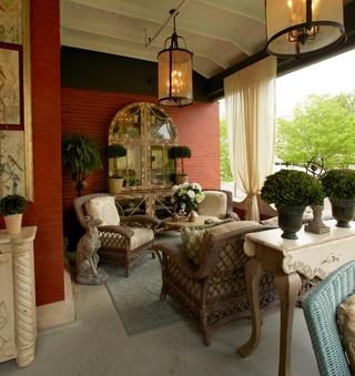 美式家居效果图花园图片欣赏