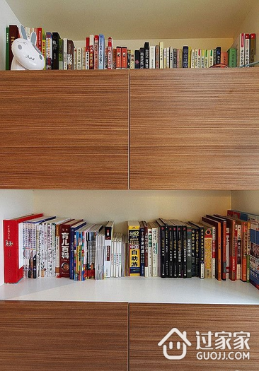 自由阅读 简约风书房书架装修效果图