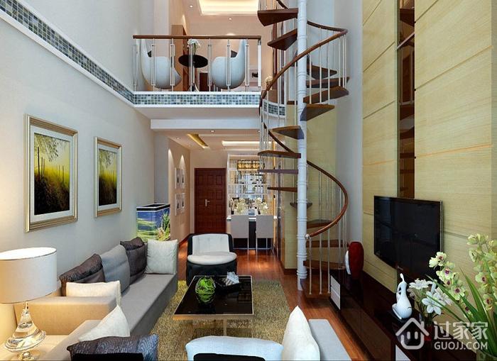 标准现代风格复式楼欣赏客厅设计
