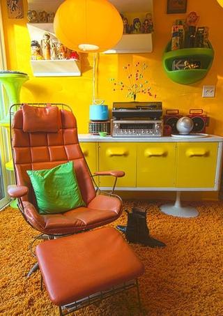 时尚彩色简约住宅欣赏客厅局部