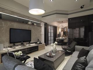 新古典奢华样板房欣赏客厅全景