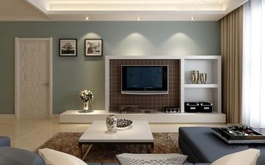 淡雅美式风住宅欣赏客厅背景墙