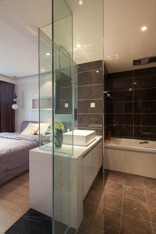 现代风三居室案例欣赏卧室隔断