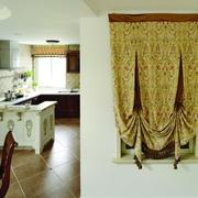 地中海效果图套图厨房过道背景墙