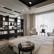 新古典经典灰白黑住宅欣赏卧室效果