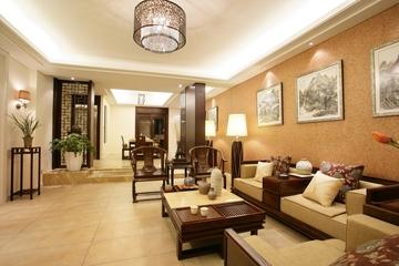 中式风格时尚装修室效果图