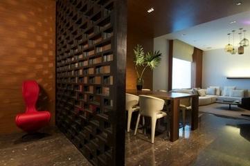 98平新中式雅居欣赏餐厅过道