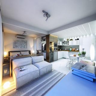 30平米开放式设计  精致的单身公寓