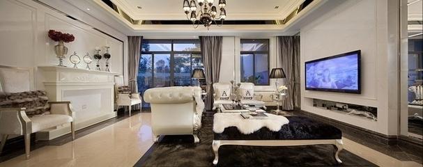 78平简欧两居室案例欣赏背景墙