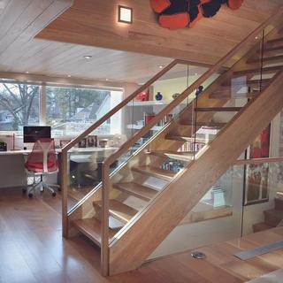 复式现代效果图书房