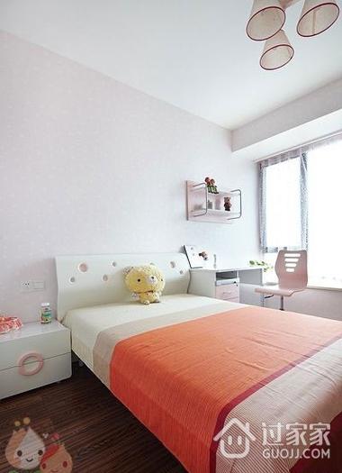 112平白色现代风住宅欣赏卧室窗户