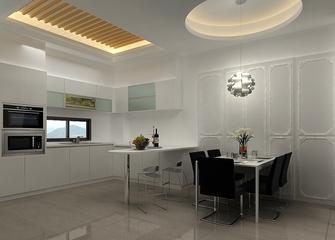 现代风格开放式厨房吊顶装修 时尚大气空间