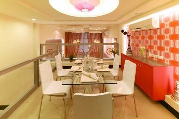 124平简约复式楼欣赏餐厅