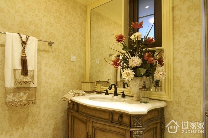 欧式风格别墅样板房洗手台