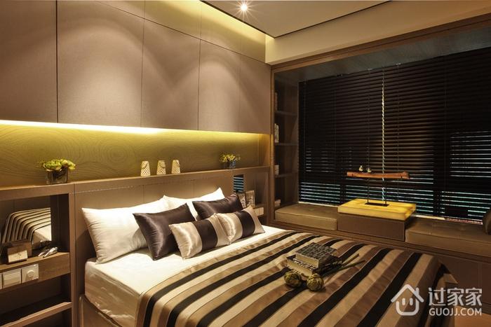 温馨卧室衣柜装修效果图 9万打造现代家居