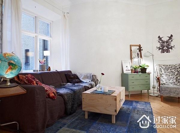87平现代风三居室欣赏客厅窗户