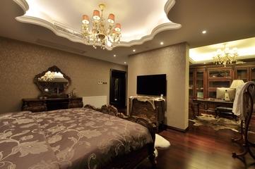 欧式风格复式楼卧室效果图设计