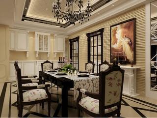 新古典四居室案例欣赏餐厅餐桌