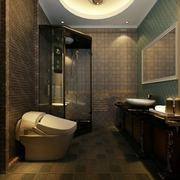 110平新古典三居样板房欣赏卫生间吊顶