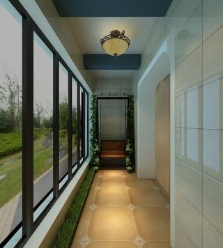 现代舒适两居住宅欣赏阳台