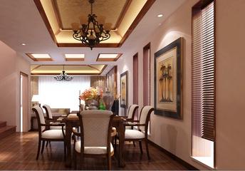 东南亚风住宅三居欣赏餐厅餐桌