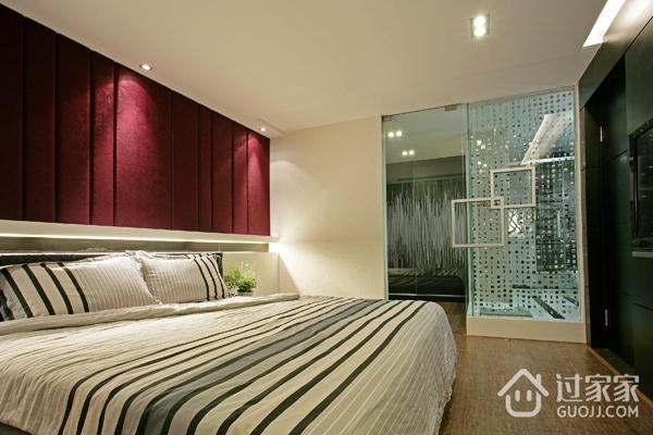 116平现代经典三居欣赏卧室摆件