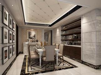 110平简约舒适案例欣赏餐厅设计