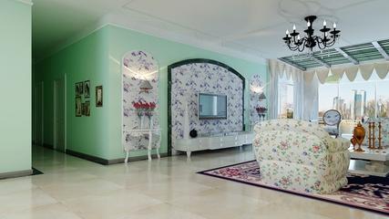 淡雅现代风住宅欣赏客厅背景墙