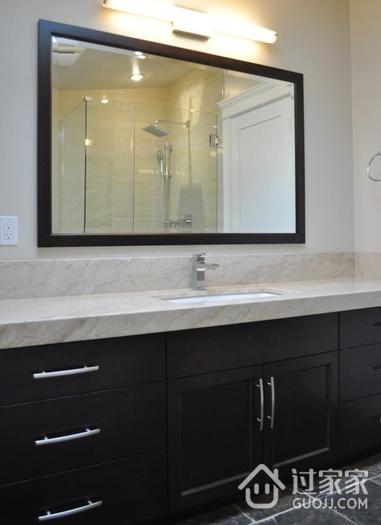 现代风格卫生间洗手台效果图