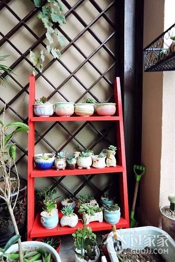 清新美式风 阳台绿植装饰效果图