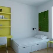 白色现代风格设计案例欣赏书房