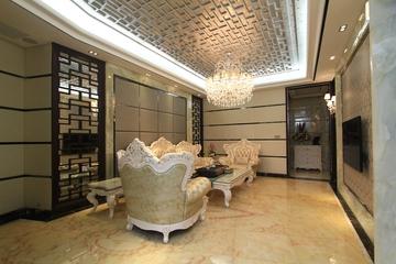 110平简欧三居室案例欣赏客厅背景墙