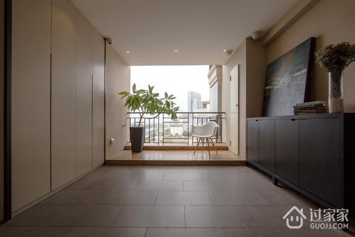 现代风三室两厅住宅欣赏阳台