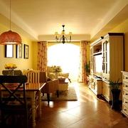 唯美温馨简欧两居室欣赏客厅