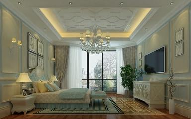 简欧时尚住宅欣赏卧室吊顶