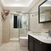 98平美式稳重住宅欣赏卫生间