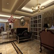 118平简欧三居室案例欣赏客厅吊顶